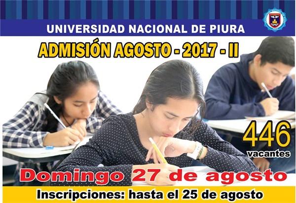 RESULTADOS Examen de Admisión UNP 2017-II