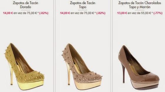 zapatos tacón oferta