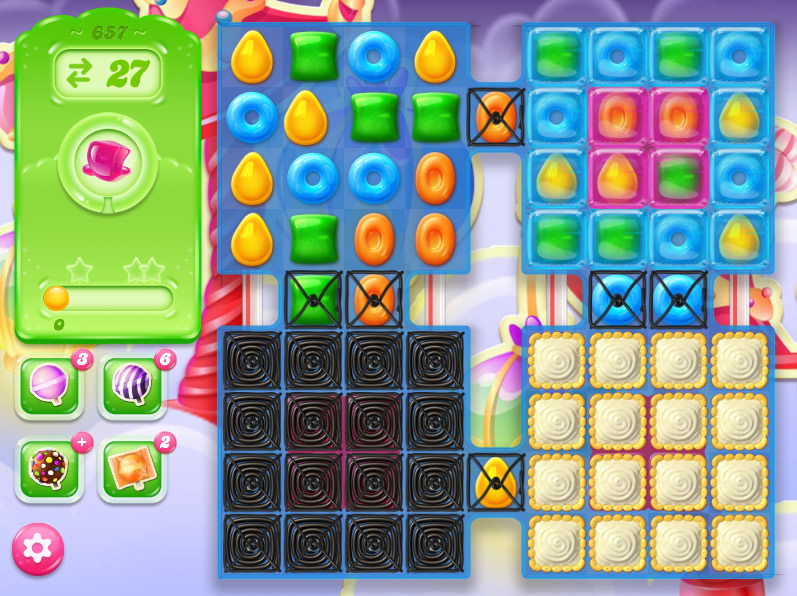 Candy Crush Jelly Saga level 657