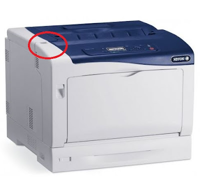Xerox Phaser 7100 Paper Jam - Open Toner and Error Solution