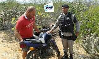 Guarnição da Polícia Militar de Picuí recupera moto furtada na última quarta (27)