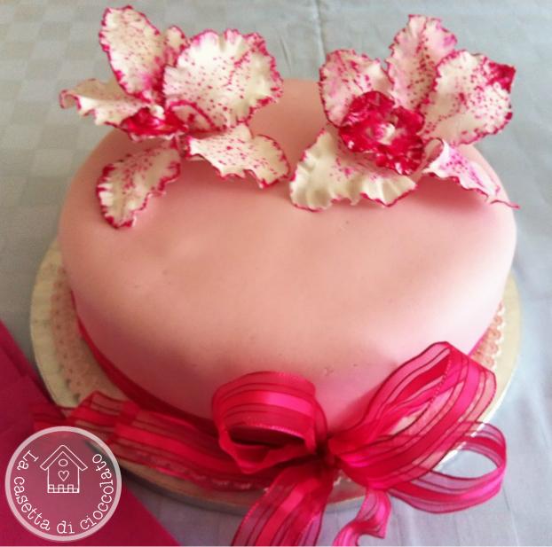 Favoloso la casetta di cioccolato: Torta con le orchidee per il compleanno  DR96
