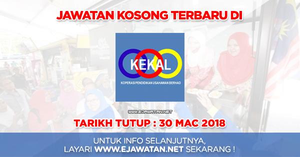 jawatan kosong KEKAL 2018