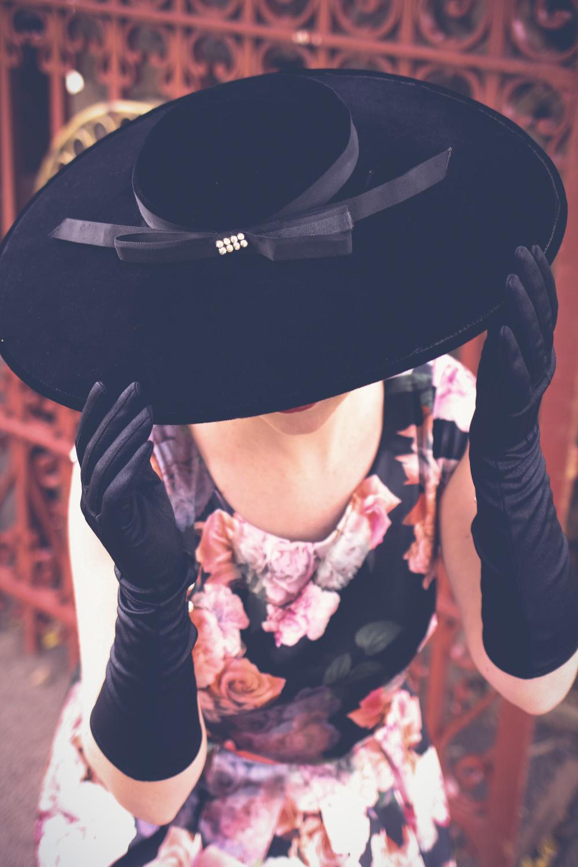 @findingfemme wears Review Australia winter floral dress at Ballarat Botanic Gardens