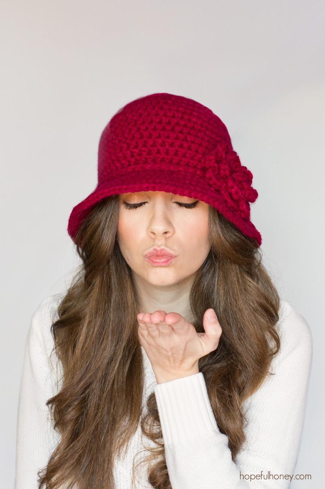 Pattern Crochet Cloche Hat : Hopeful Honey Craft, Crochet, Create: 1920s Cloche Hat ...