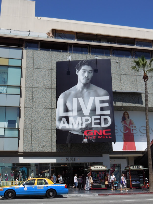 Live Amped GNC billboard