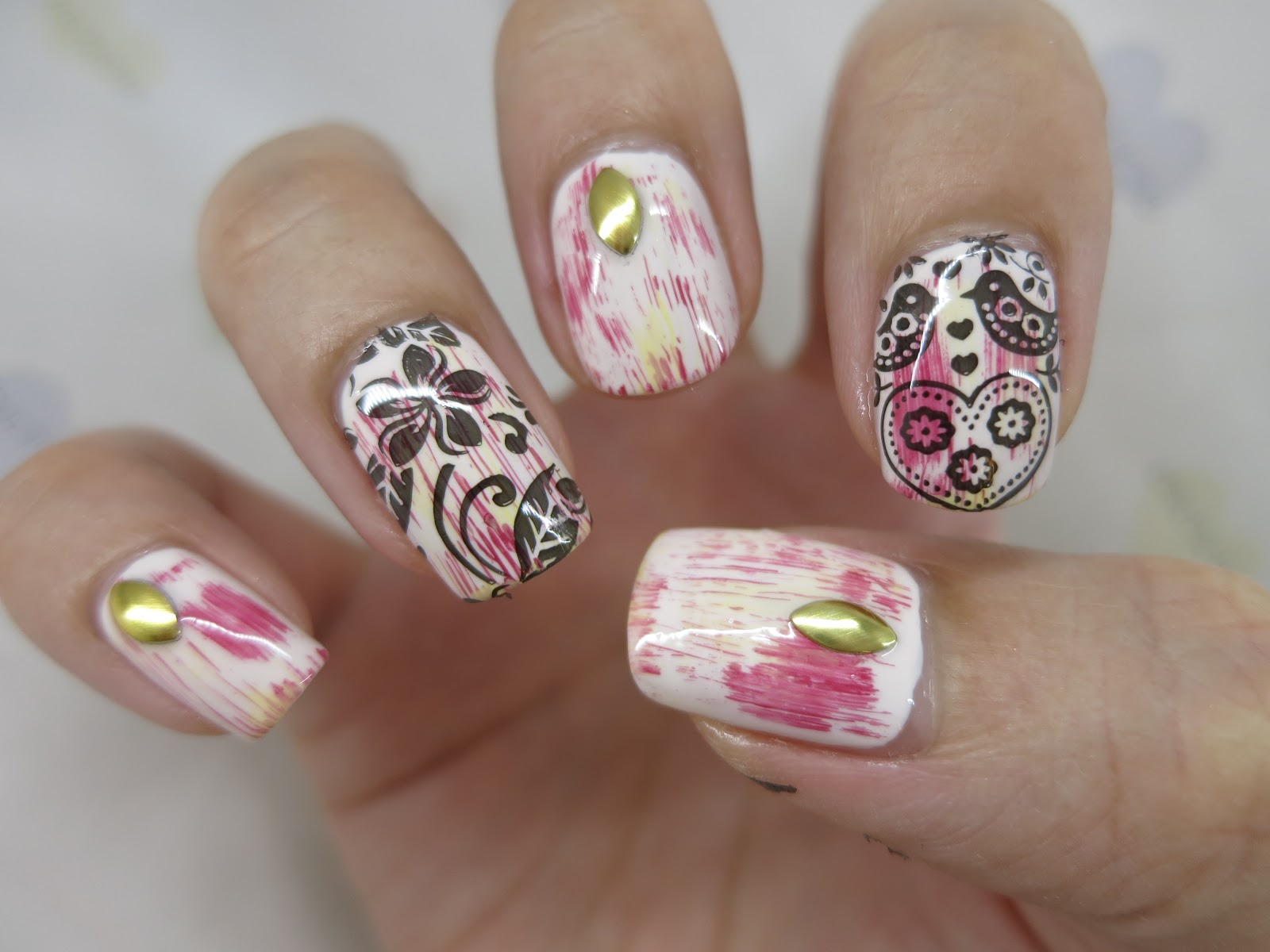 Floral And Birds Nail Art Image Plate Bpl 66 Born Pretty Review