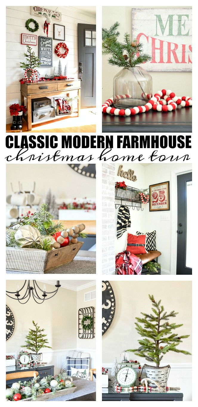 Christmas home tour, christmas, modern farmhouse, holiday home