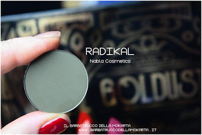 RADIKAL review eyeshadow ombretto  goldust collection Nabla cosmetics