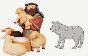 Fábula para niños el Lobo y los pastores cenando, fábulas cortas con moraleja