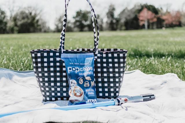 healthy snack option idea kids popchips star wars disney picnic jedi training lightsabor