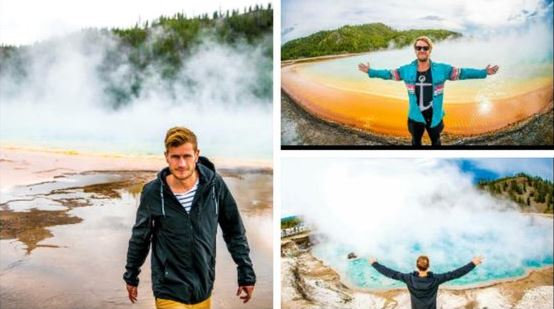 Kiwi in hot water over selfies in Yellowstone National Park