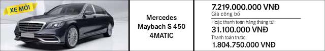 Giá xe Mercedes Maybach S400 4MATIC 2017 tại Mercedes Trường Chinh
