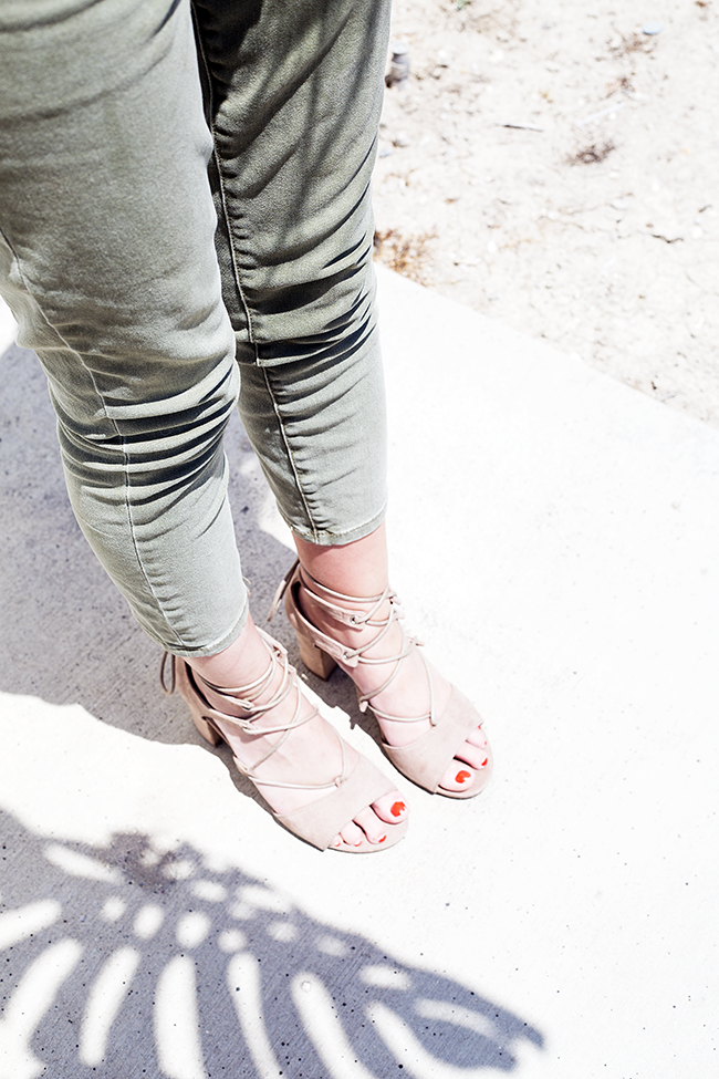 JustFab Cool Crops and Selby Sandals
