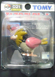 Spearow Pokemon figure Tomy Monster Collection black package series wing one color