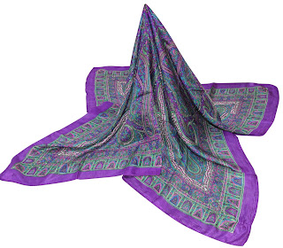 Square Silk Fashion Scarf