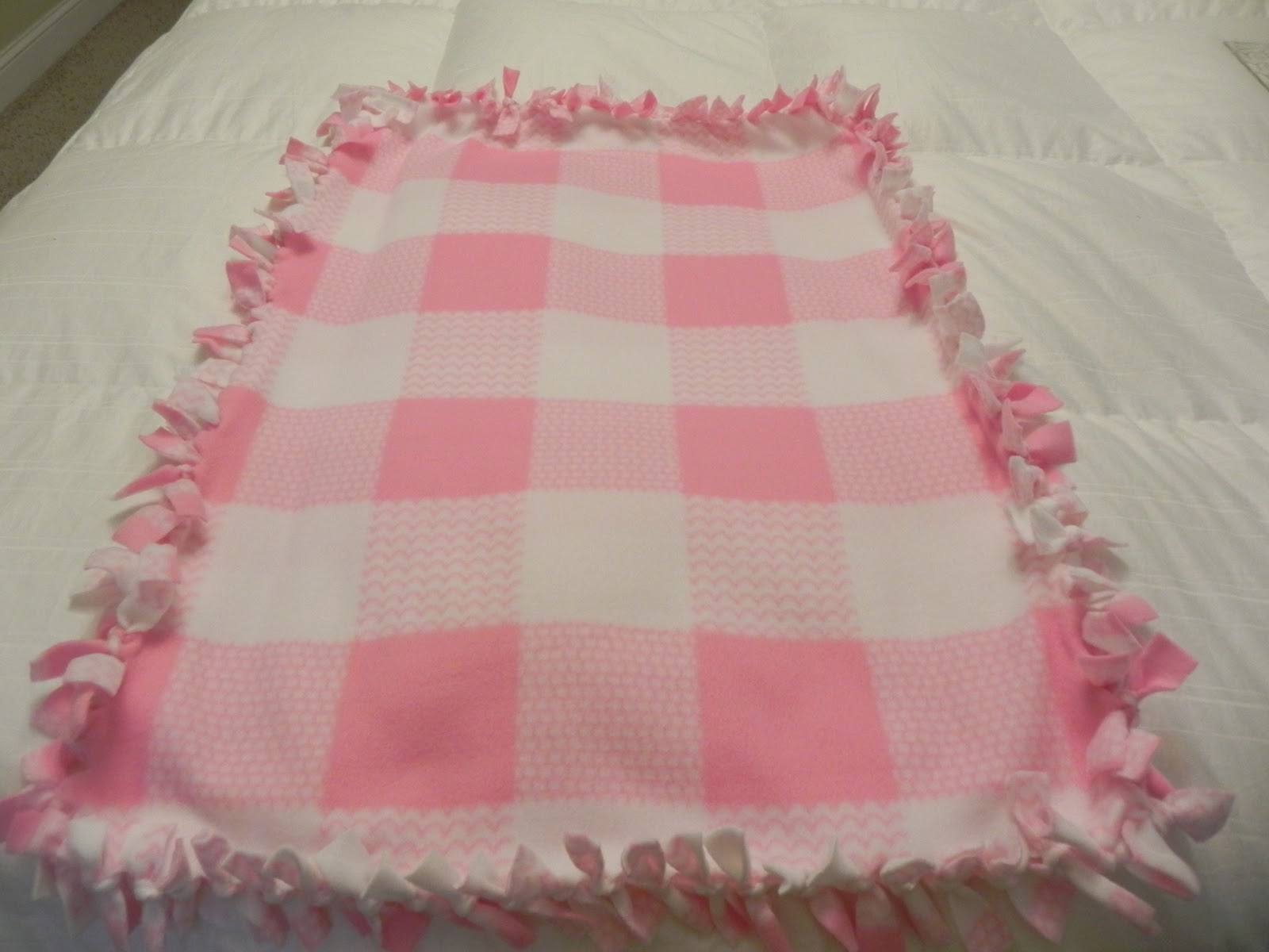 How To Make A Baby Blanket Lifes Little Garden No Sew Fleece Baby Blanket