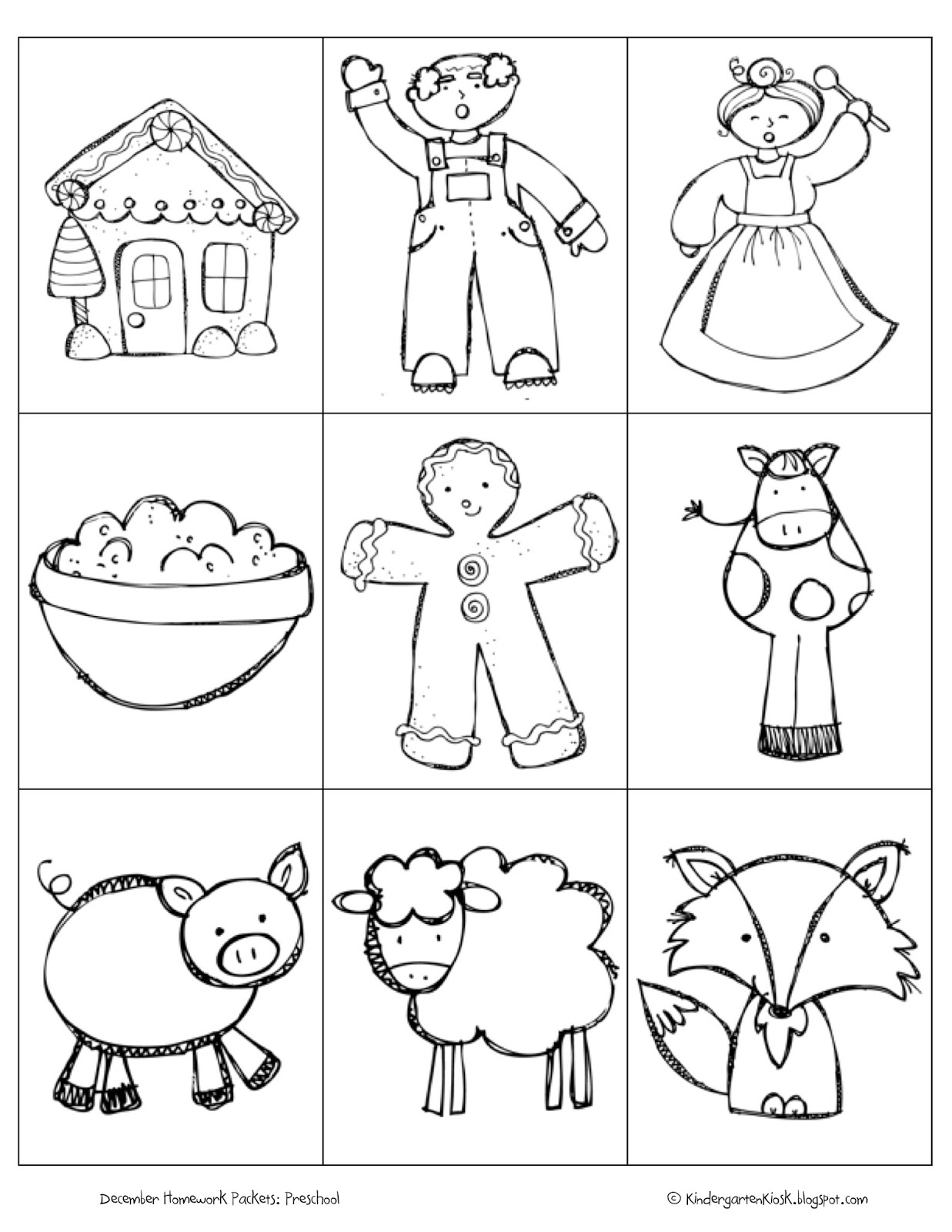 Kindergarten Kiosk Developmentally Appropriate Family