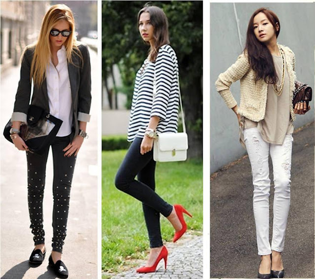 Mulheres usando looks casuais chique com bolsas femininas.