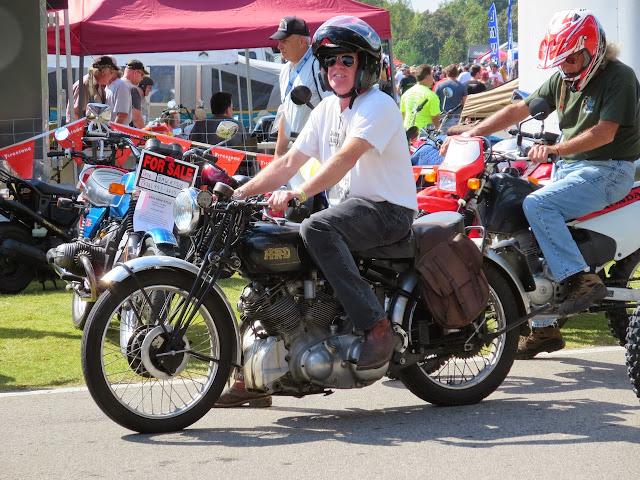 Vincent motorcycle Barber Vintage Festival