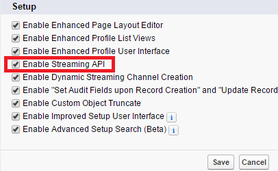 Infallible Techie: Streaming API example in Salesforce