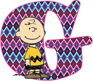 Divertido Abecedario de Snoopy y los Peanuts.