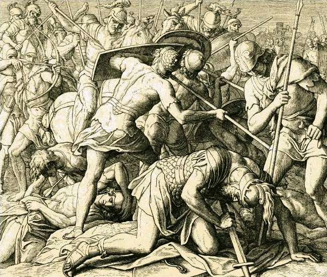 The vision told him that Israel was going to lose its battle, Saul and his sons would be killed, and the kingdom would be handed over to David.