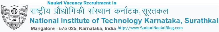 naukri vacancy recruitment NIT Surathkal Mangalore