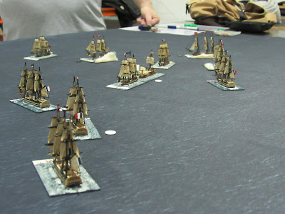 Hotham's First Action napoleonic naval wargame langton ships