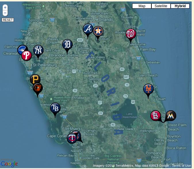 Mlb Spring Training Florida Map | autobedrijfmaatje