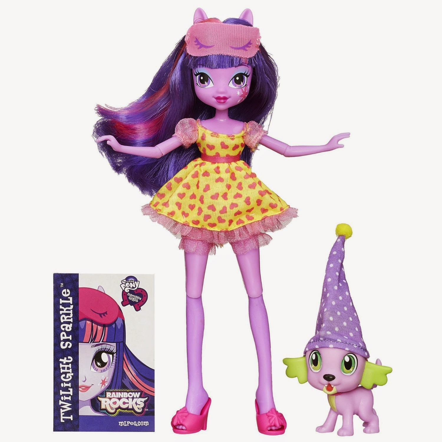 Twilight Sparkle and Spike the Puppy Equestria Girls Set