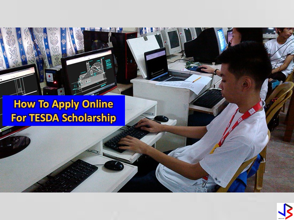 "TESDA has recently launched online application for scholarship under the Technical Vocational Education And Training (TVET).  ""Applying for a TESDA scholarship online is now a 5-10 minute procedure. We have tried our best to make it as convenient and hassle-free. There is now no reason why anyone cannot avail of free tech-voc training and enjoy the opportunities that it will bring,"" said TESDA Director General Secretary Guiling ""Gene"" Mamondiong.   TESDA has recently launched online application for scholarship under the Technical Vocational Education And Training (TVET).  ""Applying for a TESDA scholarship online is now a 5-10 minute procedure. We have tried our best to make it as convenient and hassle-free. There is now no reason why anyone cannot avail of free tech-voc training and enjoy the opportunities that it will bring,"" said TESDA Director General Secretary Guiling ""Gene"" Mamondiong.  The online scholarship application is made available for the convenience of applicants.  In as little as 5 to 10 minutes applicants can complete the online scholarship application.  The online scholarship application is made available for the convenience of applicants.  In as little as 5 to 10 minutes applicants can complete the online scholarship application. The online application for scholarship could take 5-10 minutes only.   The courses available will include Training for Work Scholarship Program (TWSP), Private Education Student Financial Assistance (PESFA) and Special Training for Employment Program (STEP).    What Is The Online Application Process For TESDA Scholarship?  Step 1. Go to http://tesda.gov.ph/Barangay/ and click the ""FILL UP THE FORM"" button.   The courses available will include Training for Work Scholarship Program (TWSP), Private Education Student Financial Assistance (PESFA) and Special Training for Employment Program (STEP).          You needed to fill up the application form and click on the ""CREATE"" button at the bottom of the page.  fill up the online scholarship application form    After filling up the form with your personal information click on the ""CREATE"" button at the bottom of the page as shown above.  By doing the above application, you will receive your  "" Learner's ID"" which you will need in order to proceed to the next step.  STEP. 2. Select the course you want to study.   step 2. choose the course available for scholarship in tesda   After choosing from the list of available courses you needed to fill in again some information about yourself. Don't forget to input on the form the ""LEARNER'S ID"" which you have generated from step 1.        Once you completed the online scholarship application form, you have to wait for any correspondence on your email from TESDA regarding your application.   Your application will be forwarded to the Technological Institutions or private-owned TVET provider.  After processing your application at the TESDA Provincial Office, you will receive an email containing an information as to the date of training and venue of training institution.  TESDA has recently launched online application for scholarship under the Technical Vocational Education And Training (TVET).  ""Applying for a TESDA scholarship online is now a 5-10 minute procedure. We have tried our best to make it as convenient and hassle-free. There is now no reason why anyone cannot avail of free tech-voc training and enjoy the opportunities that it will bring,"" said TESDA Director General Secretary Guiling ""Gene"" Mamondiong.   TESDA has recently launched online application for scholarship under the Technical Vocational Education And Training (TVET).  ""Applying for a TESDA scholarship online is now a 5-10 minute procedure. We have tried our best to make it as convenient and hassle-free. There is now no reason why anyone cannot avail of free tech-voc training and enjoy the opportunities that it will bring,"" said TESDA Director General Secretary Guiling ""Gene"" Mamondiong.  The online scholarship application is made available for the convenience of applicants.  In as little as 5 to 10 minutes applicants can complete the online scholarship application.  The online scholarship application is made available for the convenience of applicants.  In as little as 5 to 10 minutes applicants can complete the online scholarship application. The online application for scholarship could take 5-10 minutes only.   The courses available will include Training for Work Scholarship Program (TWSP), Private Education Student Financial Assistance (PESFA) and Special Training for Employment Program (STEP).    What Is The Online Application Process For TESDA Scholarship?  Step 1. Go to http://tesda.gov.ph/Barangay/ and click the ""FILL UP THE FORM"" button.   The courses available will include Training for Work Scholarship Program (TWSP), Private Education Student Financial Assistance (PESFA) and Special Training for Employment Program (STEP).          You needed to fill up the application form and click on the ""CREATE"" button at the bottom of the page.  fill up the online scholarship application form    After filling up the form with your personal information click on the ""CREATE"" button at the bottom of the page as shown above.  By doing the above application, you will receive your  "" Learner's ID"" which you will need in order to proceed to the next step.  STEP. 2. Select the course you want to study.   step 2. choose the course available for scholarship in tesda   After choosing from the list of available courses you needed to fill in again some information about yourself. Don't forget to input on the form the ""LEARNER'S ID"" which you have generated from step 1.        Once you completed the online scholarship application form, you have to wait for any correspondence on your email from TESDA regarding your application.   Your application will be forwarded to the Technological Institutions or private-owned TVET provider.  After processing your application at the TESDA Provincial Office, you will receive an email containing an information as to the date of training and venue of training institution.  The courses available will include Training for Work Scholarship Program (TWSP), Private Education Student Financial Assistance (PESFA) and Special Training for Employment Program (STEP).   The online application is one of the programs under the Reform and Development Agenda of TESDA aimed to make scholarship application faster and easier.    The online application is one of the programs under the Reform and Development Agenda of TESDA aimed to make scholarship application faster and easier.    TESDA, TESDA scholarship, How to, TVET online scholarship application, Online scholarship application"