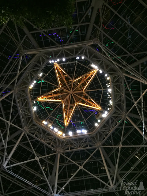 Though the Atrium at the Gaylord Texan Resort is definitely a must-see during the daytime, be sure to also take a stroll through the atrium at night and don't forget to look up.