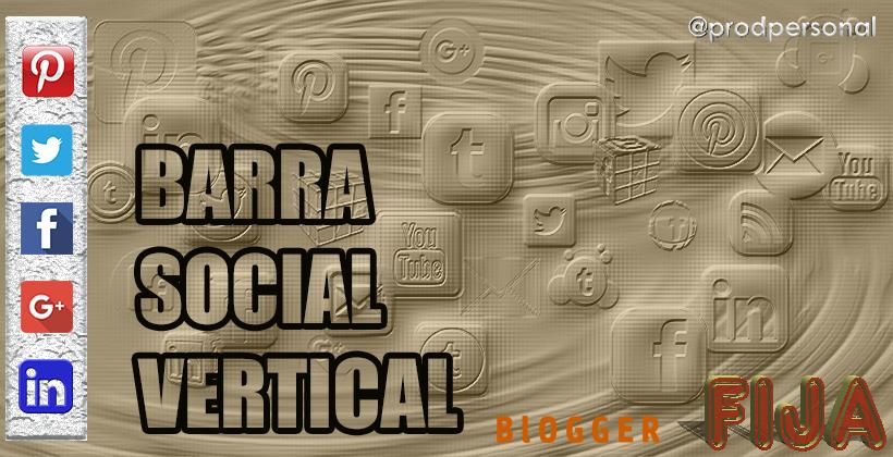 Barra social vertical fija