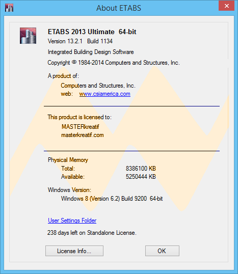 ETABS 2013 Ultimate v13.2.1 Full Keygen
