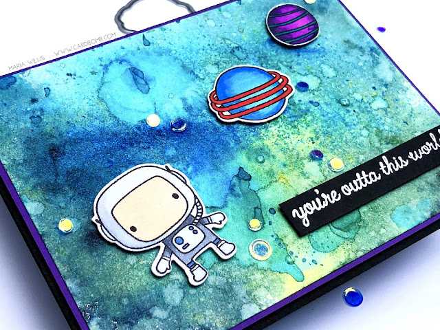 #cardbomb, #simonsaysstamps, #reverseconfetti, #tonicstudiosusa, #nuvoshimmerpowder, #moonmen, #watercolor, #art, #outerspace, #copics, #color, #paper, #stamping, #ink, #card, #cardmaking,