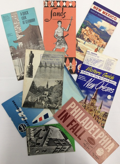 Just some of the brochures collected by Jean in her travels
