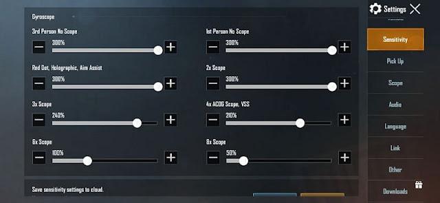 PUBG Mobile Jiroskop oyuncuları için en iyi hassasiyet ayarları