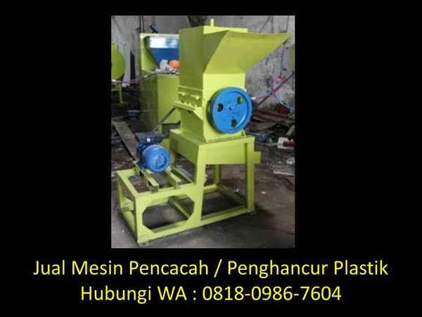 mesin pencacah plastik buatan baedowy di bandung