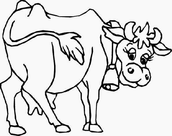 Free Coloring Pictures Cow To