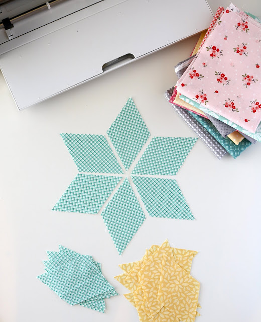 Six Pointed Star block using the Cricut Maker by Andy of A Bright Corner