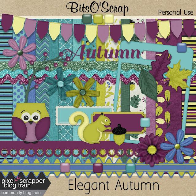 Pixel Scrapper November 2017 Blog Train - Elegant Autumn