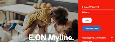 myline eon login autentificare facturi