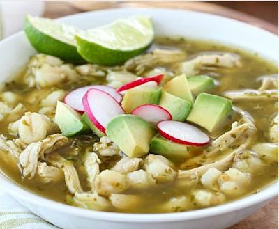 Chicken Posole Verde Recipe #dinner