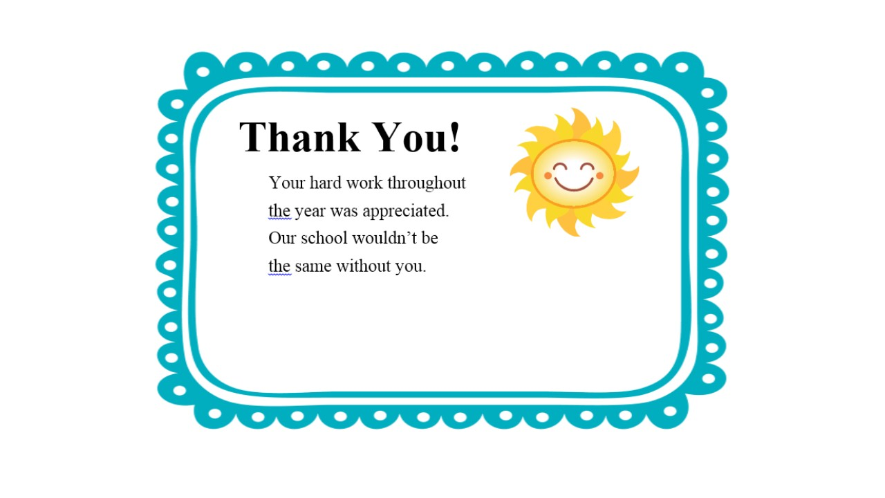 teacher thank you notes thank you letter  thank you letter