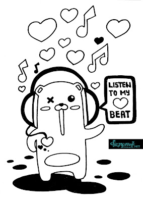 emo bear coloring pages | shizyntoz's art: LiSTeN tO mY HeaRT BeaT