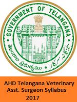 AHD Telangana Veterinary Asst. Surgeon Syllabus