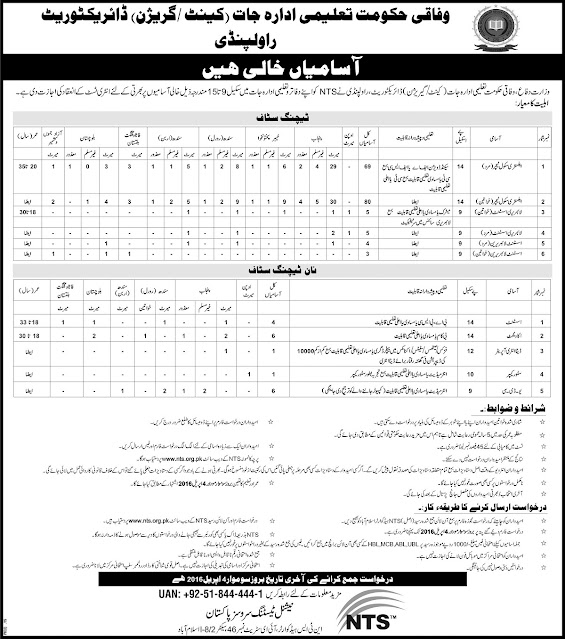 Educators & Admin Jobs in Federal Govt Educational Institutions