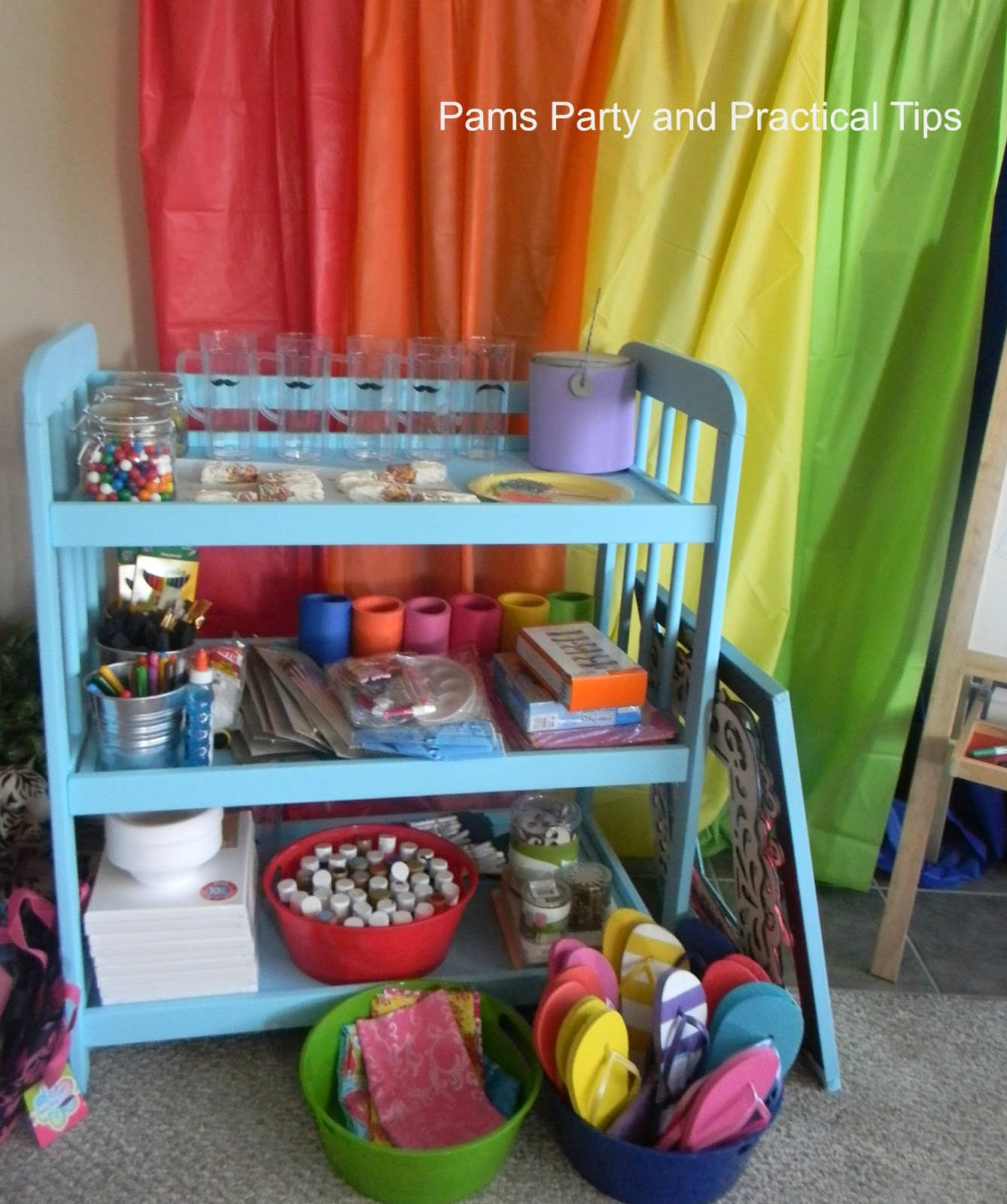 7 Top Tips For Throwing A Grand Party In A Small Home: Pams Party & Practical Tips: Changing Table To Party Table