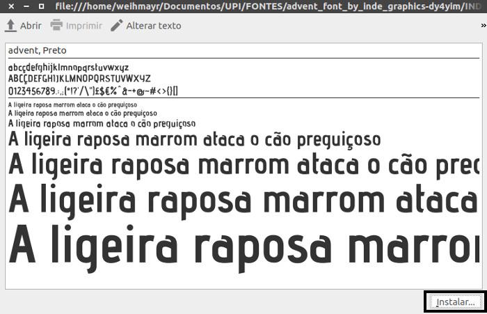 instalar fontes ou estilo de letras diferentes no ubuntu